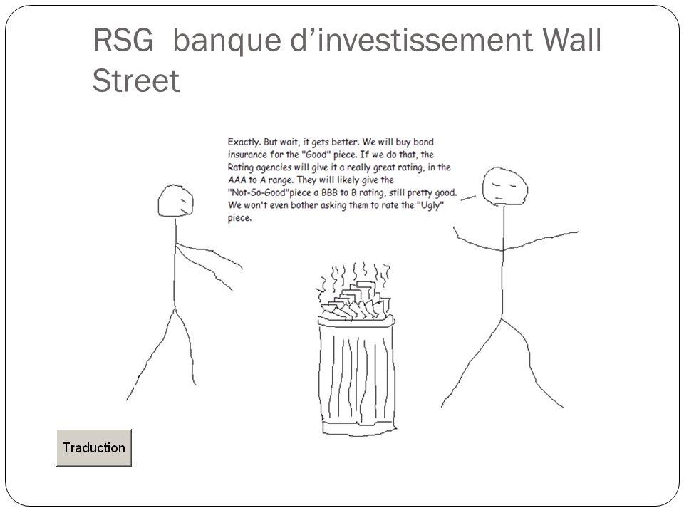 RSG banque d'investissement Wall Street
