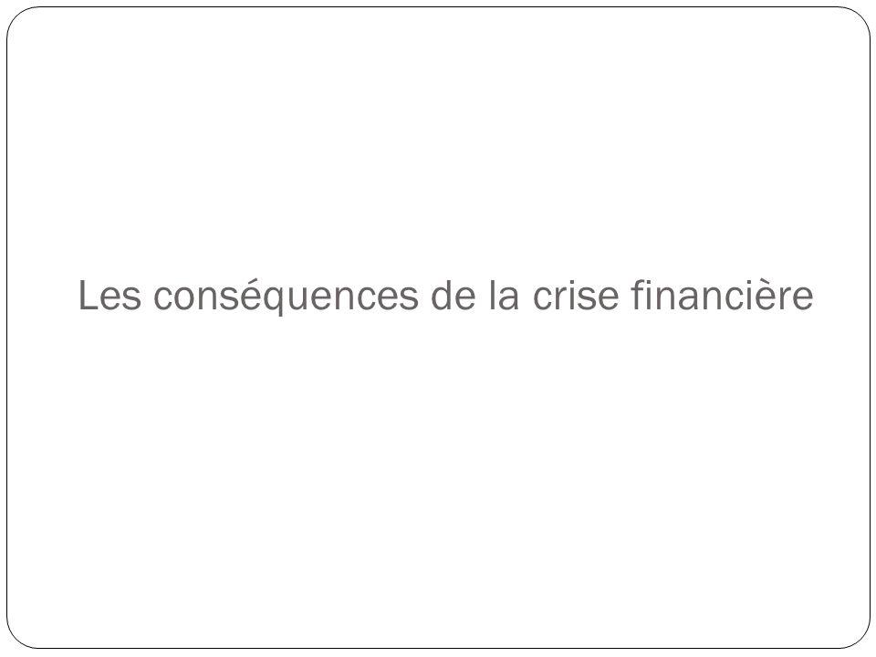 Les conséquences de la crise financière