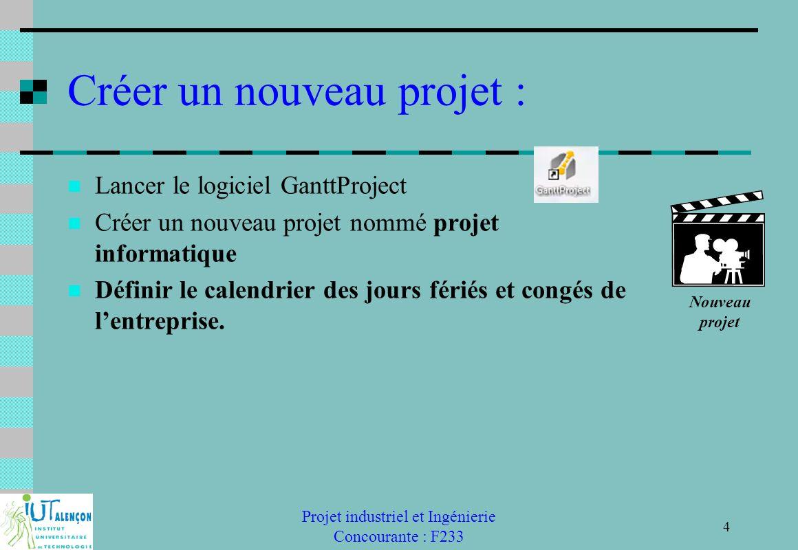 Créer un nouveau projet :