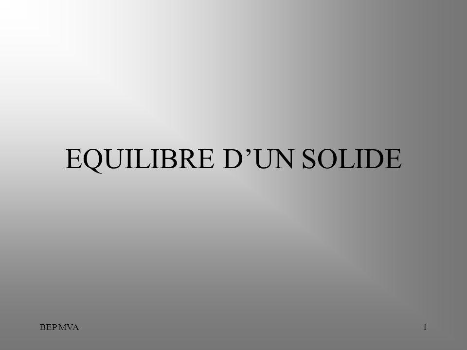 EQUILIBRE D'UN SOLIDE BEP MVA