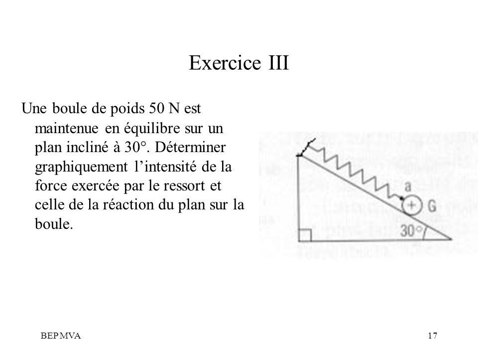 Exercice III