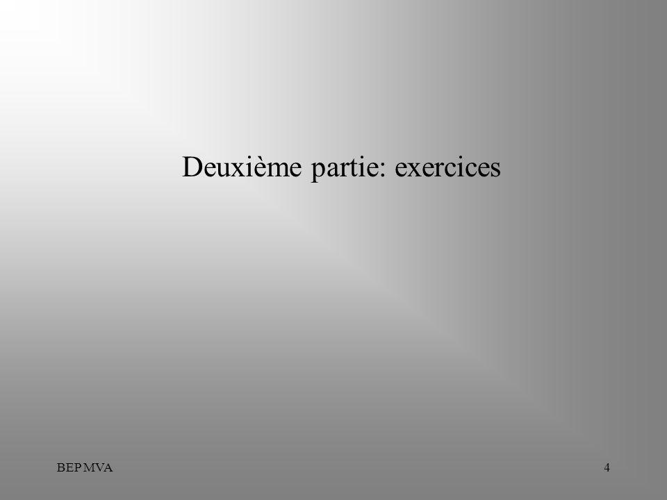 Deuxième partie: exercices