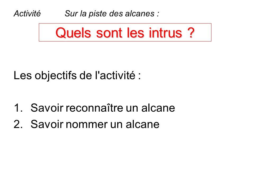 Quels sont les intrus Les objectifs de l activité :