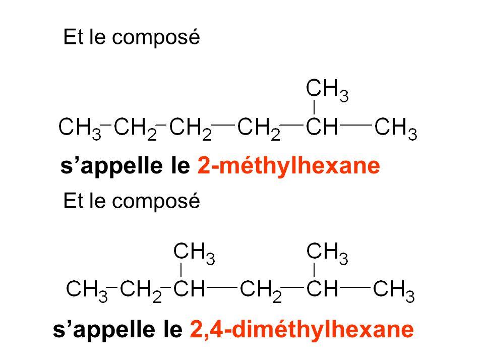 s'appelle le 2-méthylhexane