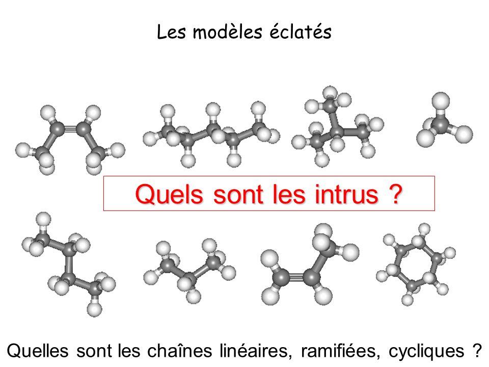 Quelles sont les chaînes linéaires, ramifiées, cycliques
