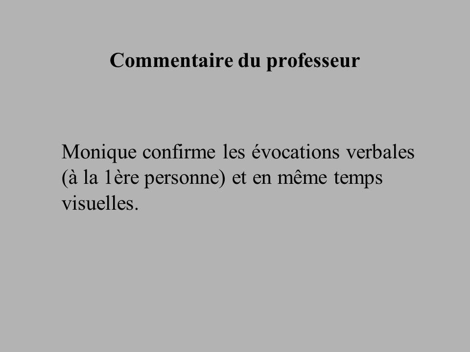 Commentaire du professeur