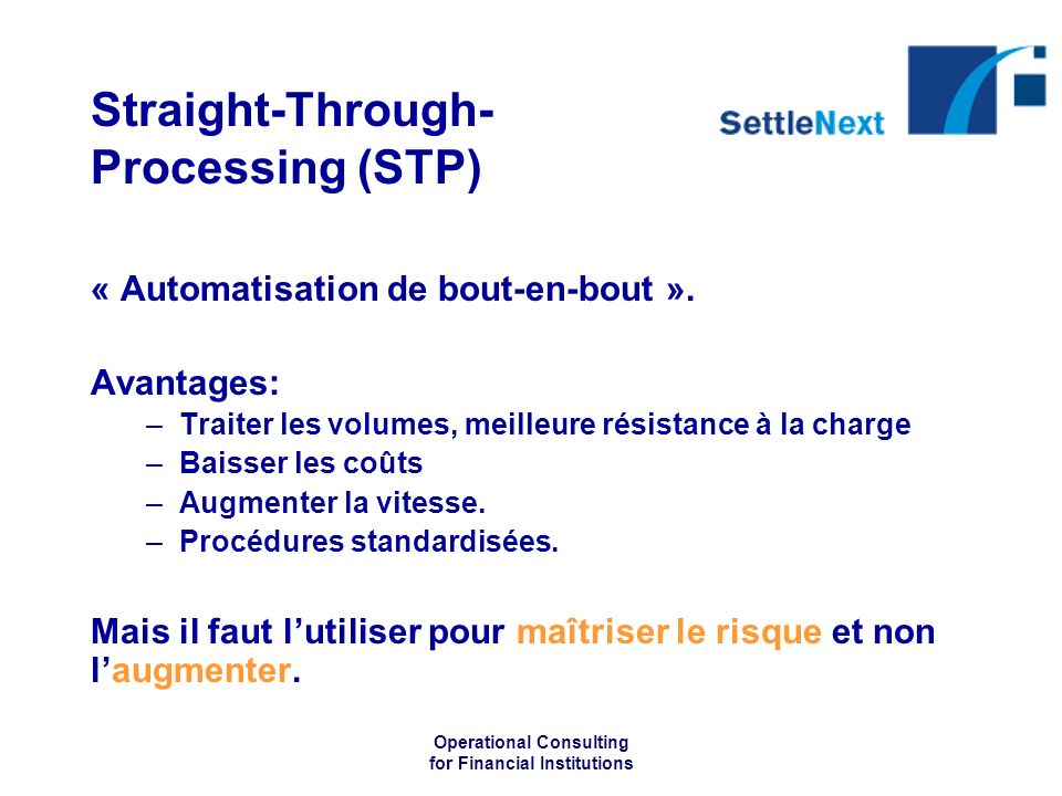 Straight-Through-Processing (STP)