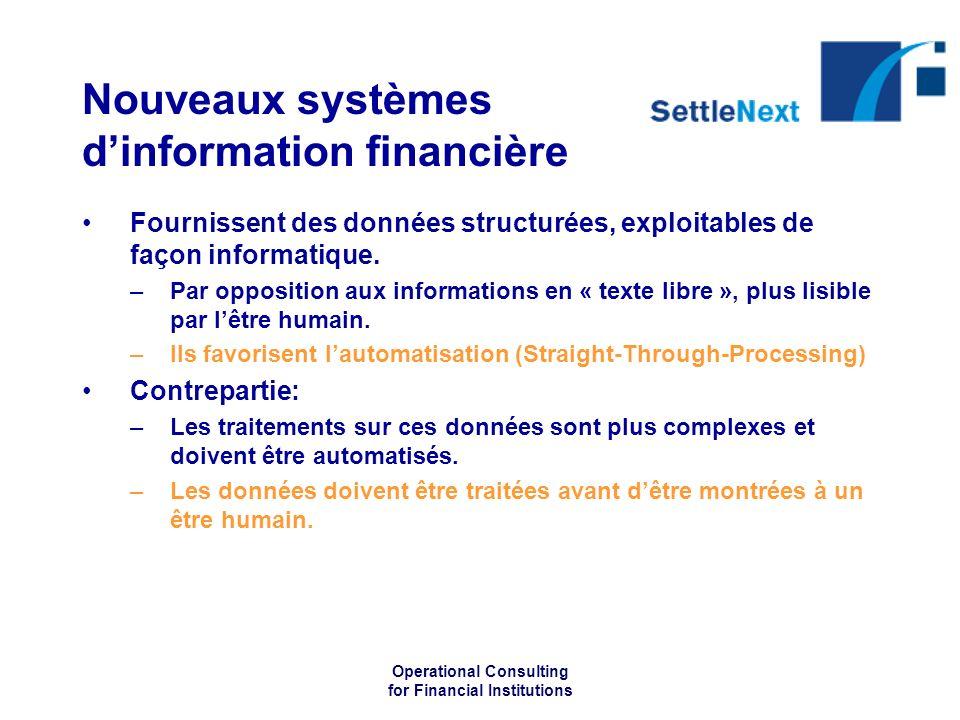 Nouveaux systèmes d'information financière