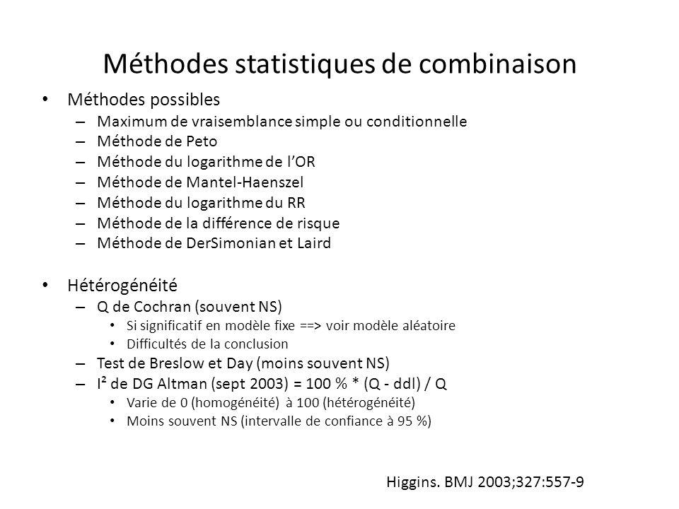 Méthodes statistiques de combinaison