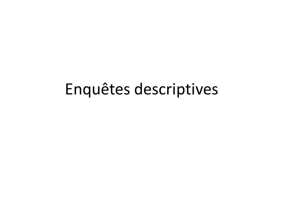 Enquêtes descriptives