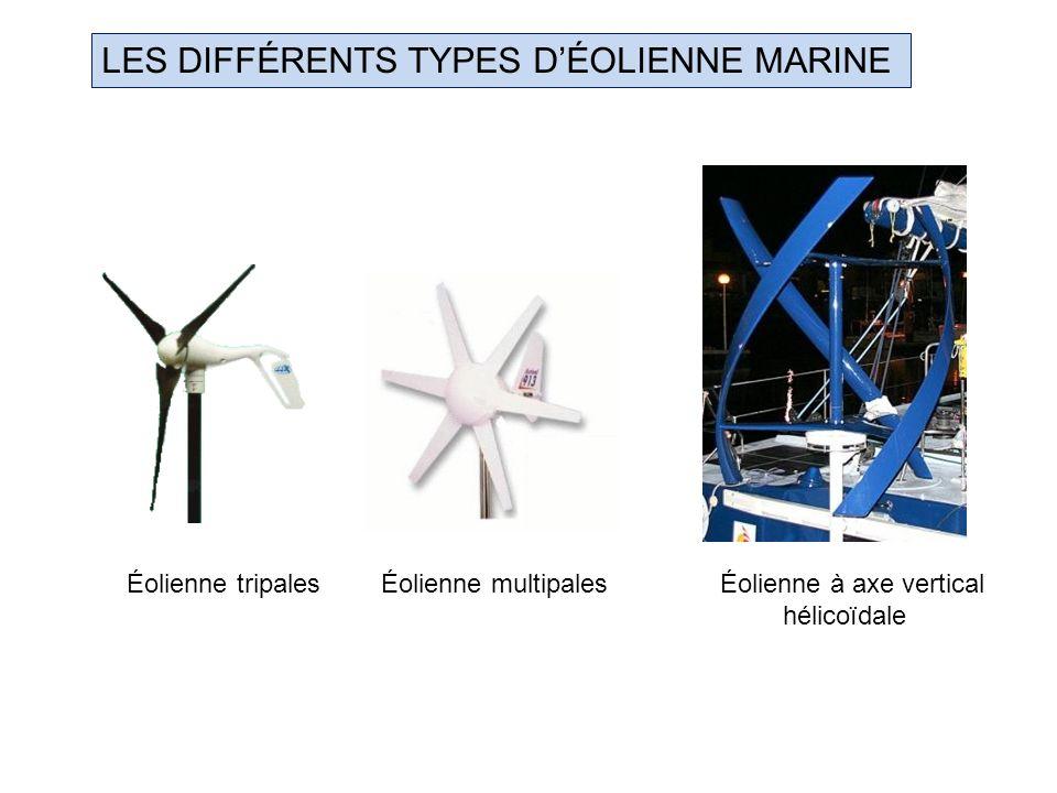 LES DIFFÉRENTS TYPES D'ÉOLIENNE MARINE