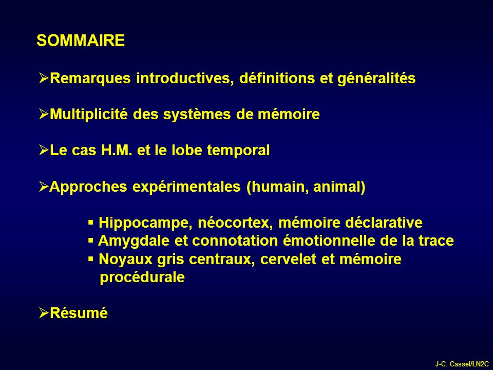 SOMMAIRE Remarques introductives, définitions et généralités