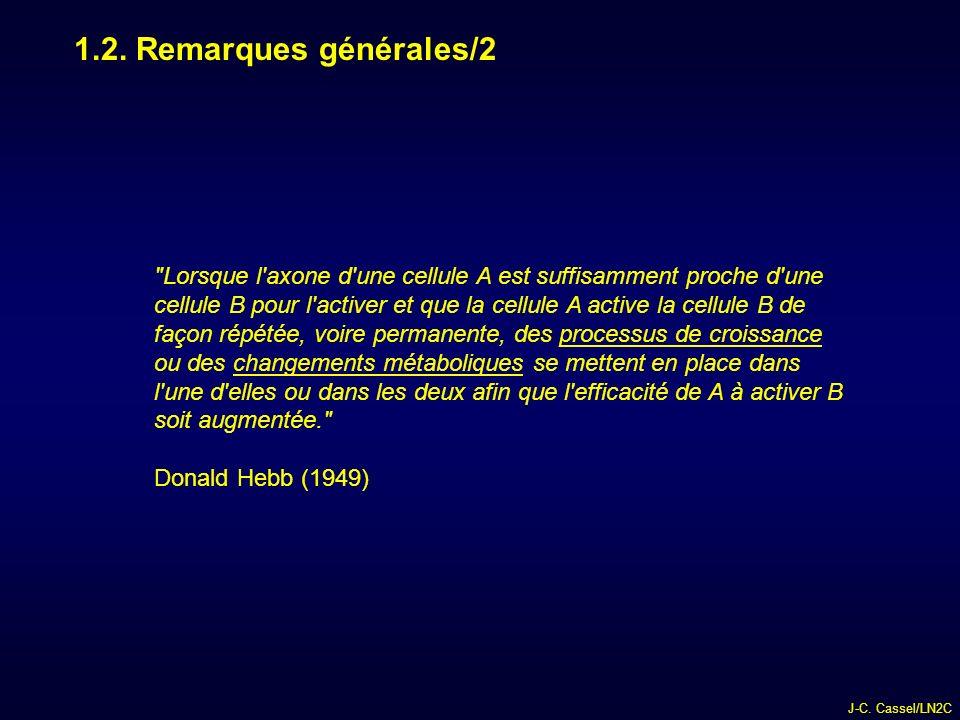 1.2. Remarques générales/2