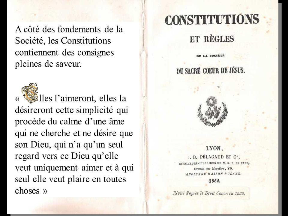 A côté des fondements de la Société, les Constitutions contiennent des consignes pleines de saveur.