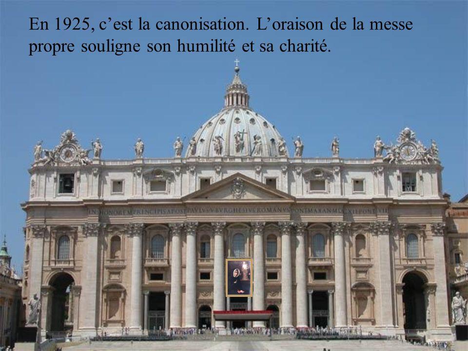 En 1925, c'est la canonisation
