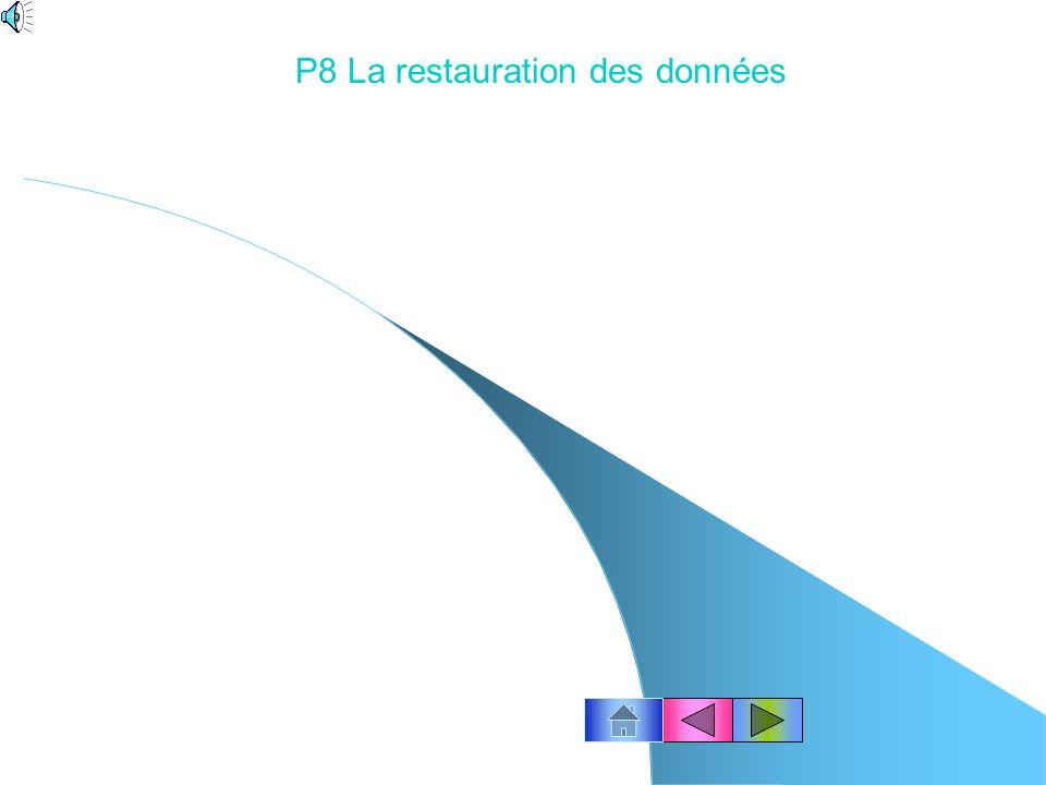 P8 La restauration des données