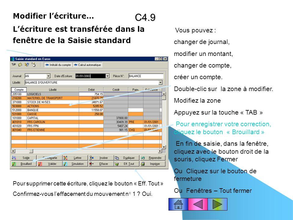 C4.9 Modifier l'écriture…