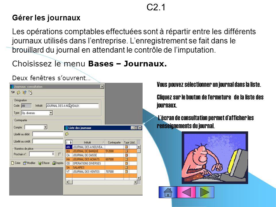 C2.1 Gérer les journaux.