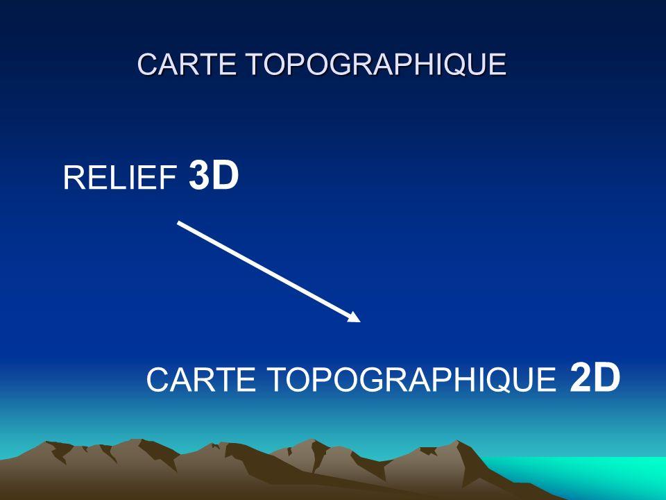 CARTE TOPOGRAPHIQUE RELIEF 3D CARTE TOPOGRAPHIQUE 2D