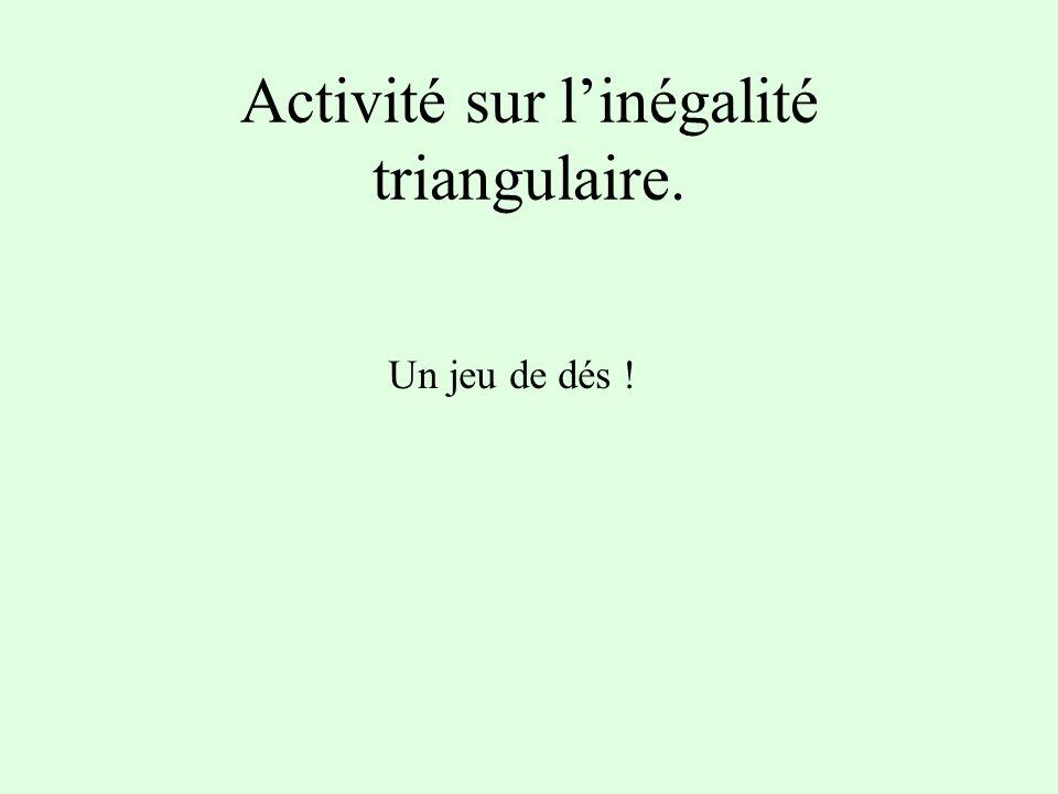 Activité sur l'inégalité triangulaire.