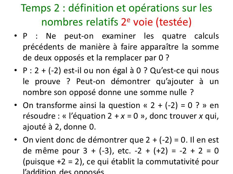 Temps 2 : définition et opérations sur les nombres relatifs 2e voie (testée)
