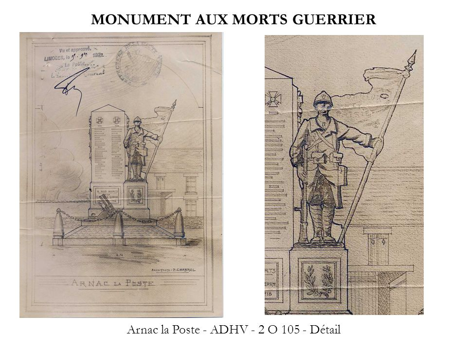 MONUMENT AUX MORTS GUERRIER
