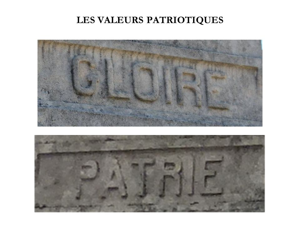 LES VALEURS PATRIOTIQUES