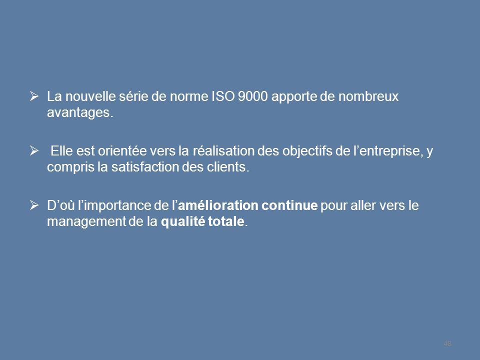 La nouvelle série de norme ISO 9000 apporte de nombreux avantages.