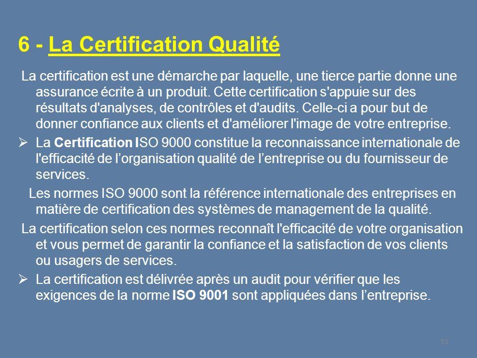6 - La Certification Qualité