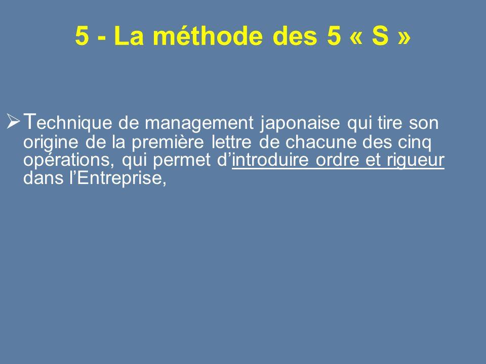5 - La méthode des 5 « S »