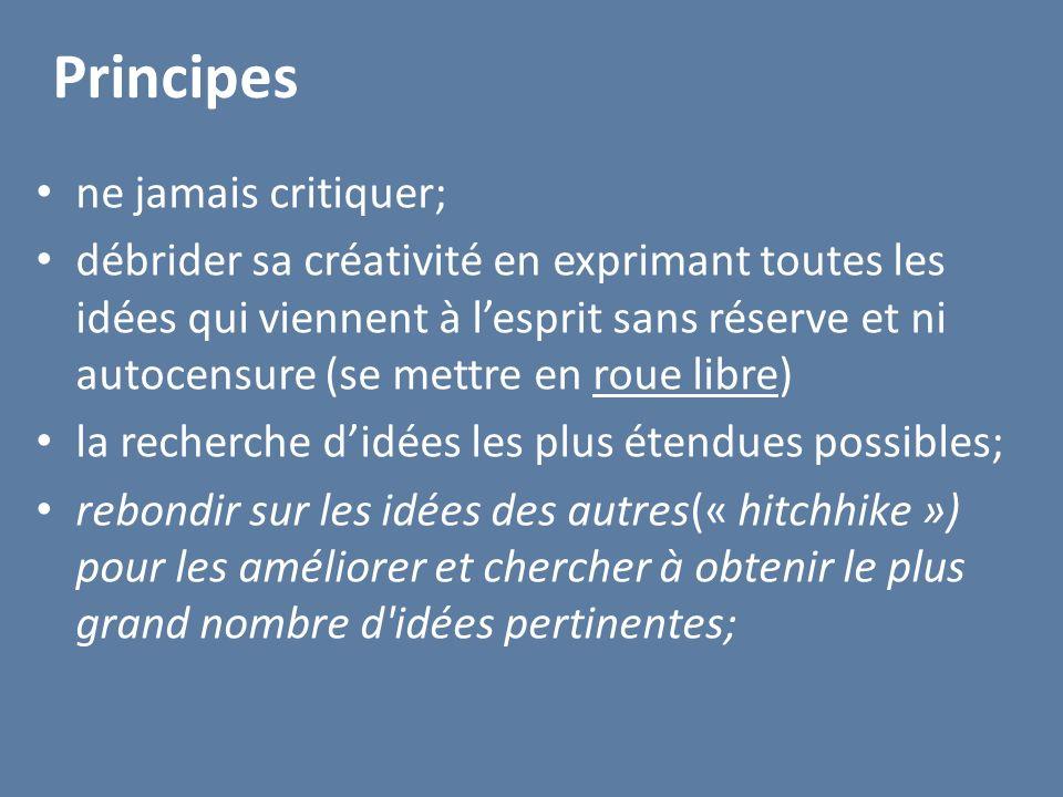 Principes ne jamais critiquer;