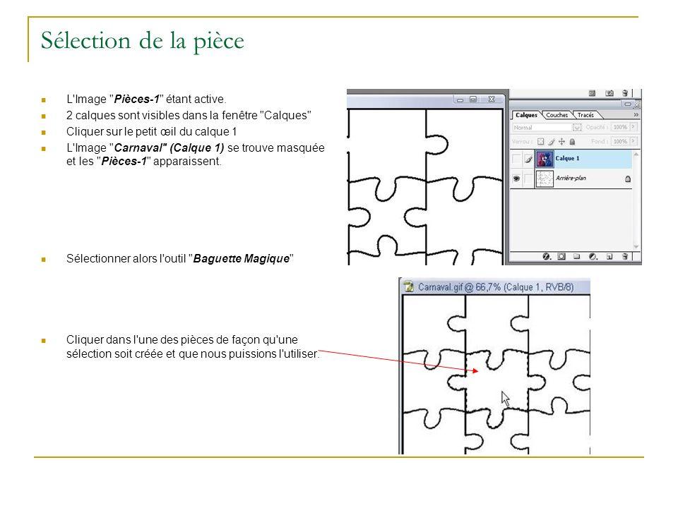 Sélection de la pièce L Image Pièces-1 étant active.