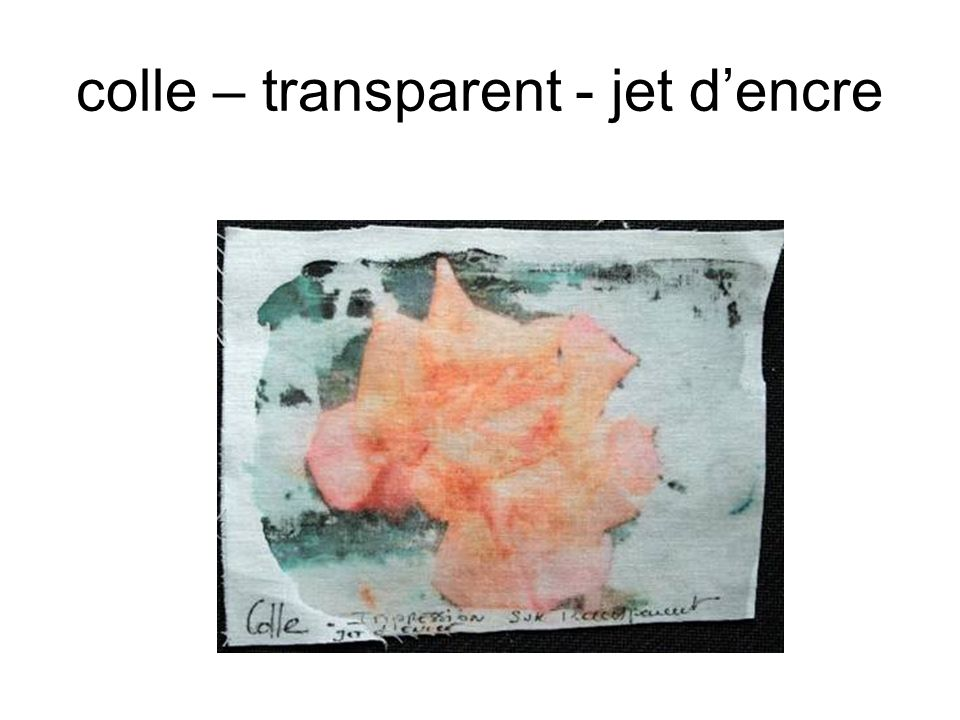 colle – transparent - jet d'encre