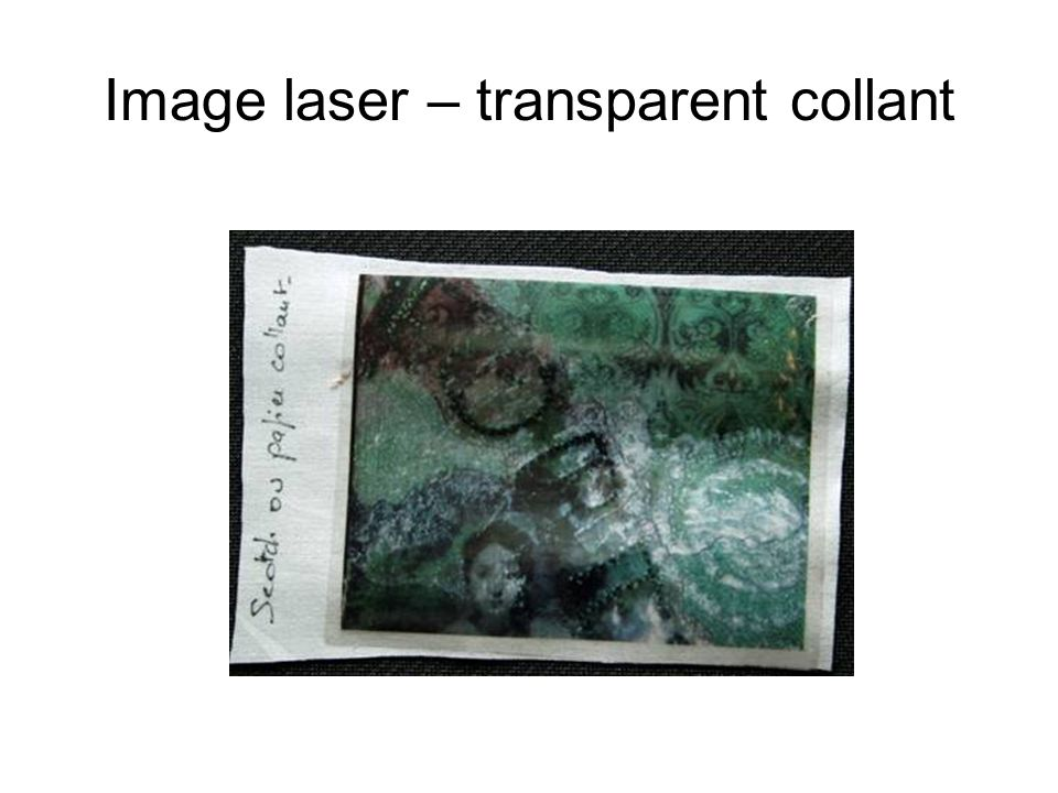 Image laser – transparent collant