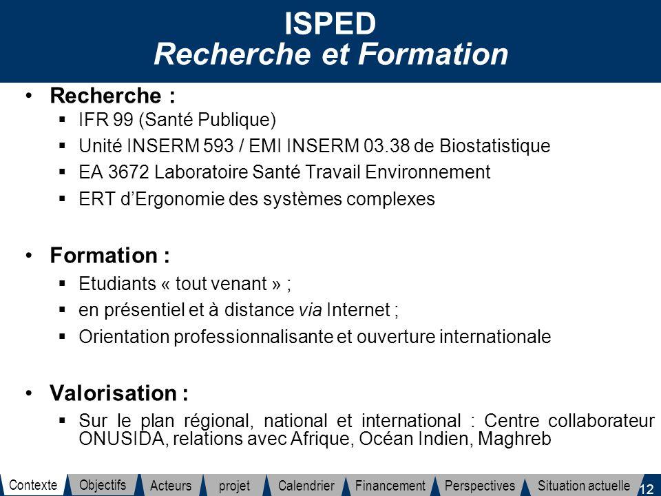 ISPED Recherche et Formation