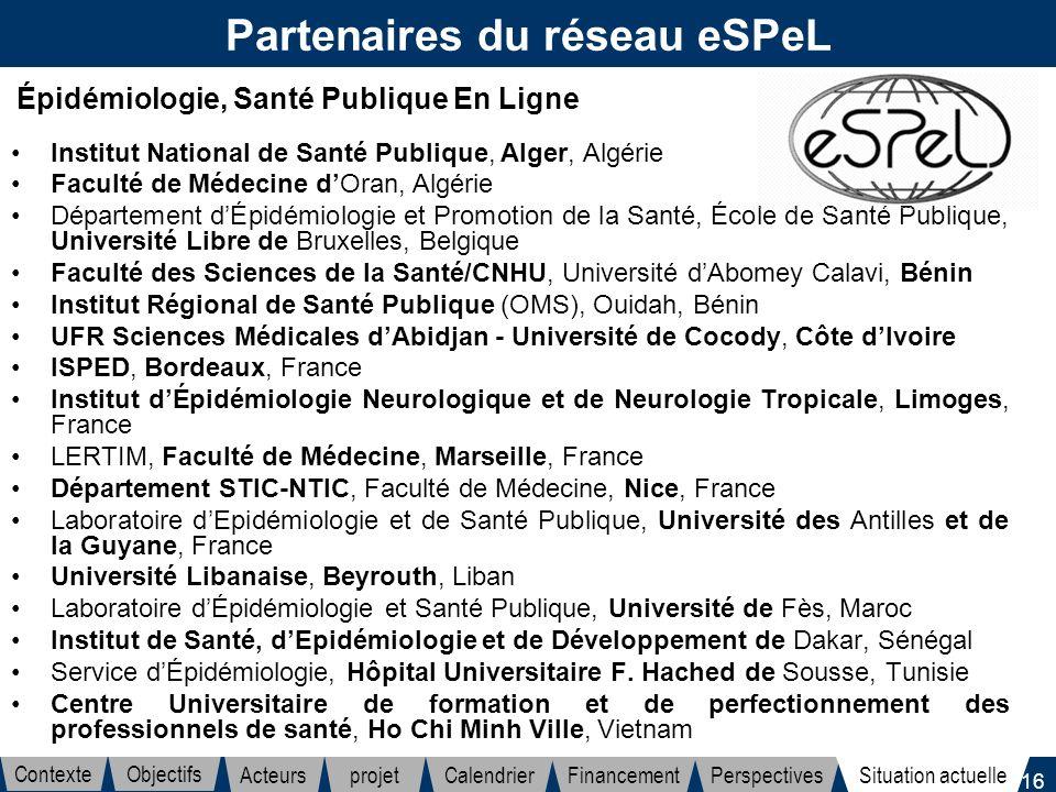 Partenaires du réseau eSPeL