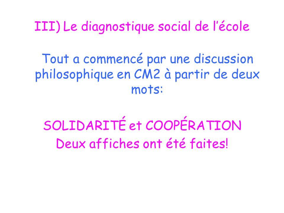 III) Le diagnostique social de l'école