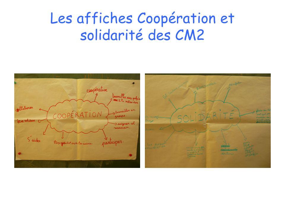 Les affiches Coopération et solidarité des CM2