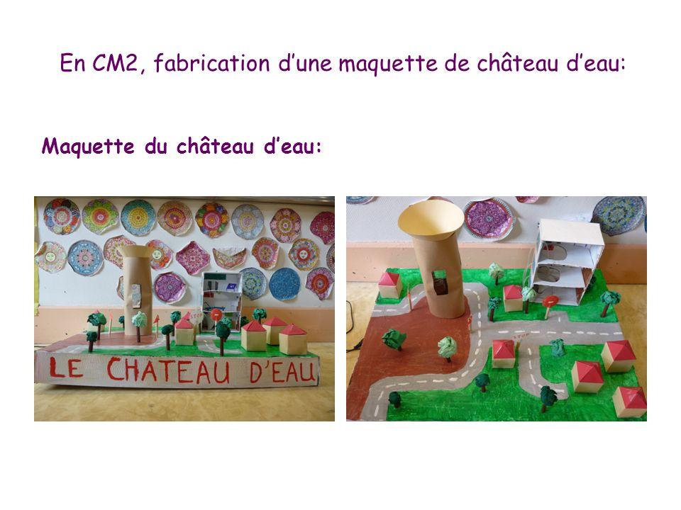 En CM2, fabrication d'une maquette de château d'eau: