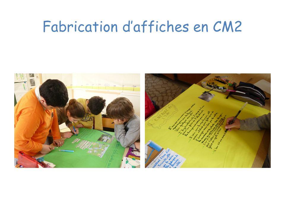 Fabrication d'affiches en CM2