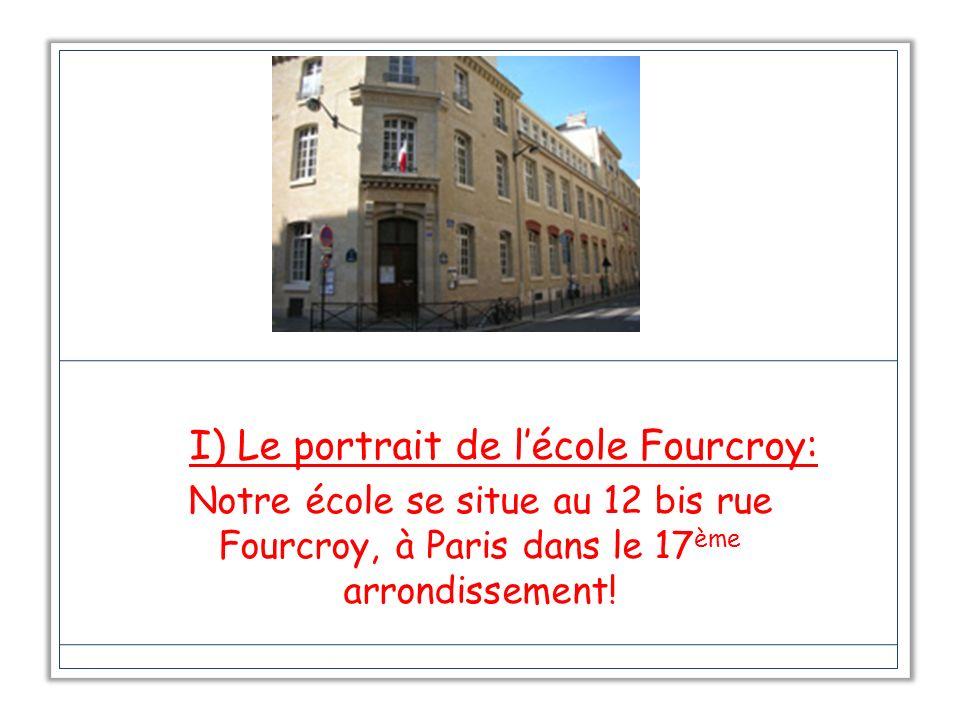I) Le portrait de l'école Fourcroy: