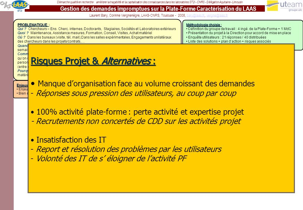 Risques Projet & Alternatives :