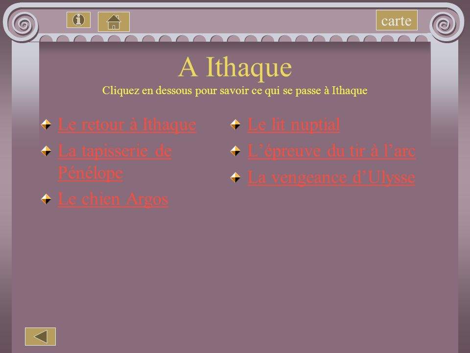 A Ithaque Cliquez en dessous pour savoir ce qui se passe à Ithaque