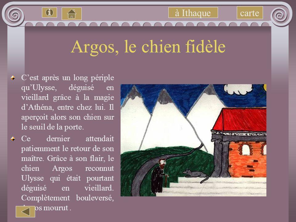 Argos, le chien fidèle à Ithaque carte