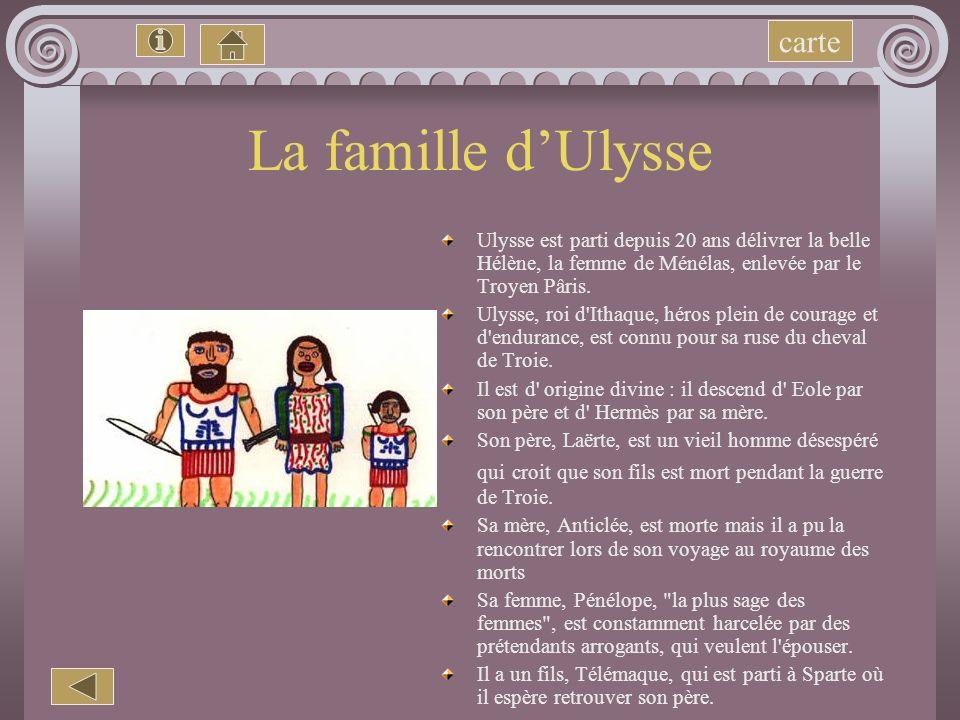 La famille d'Ulysse carte