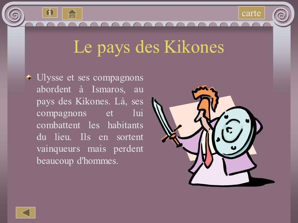 Le pays des Kikones carte