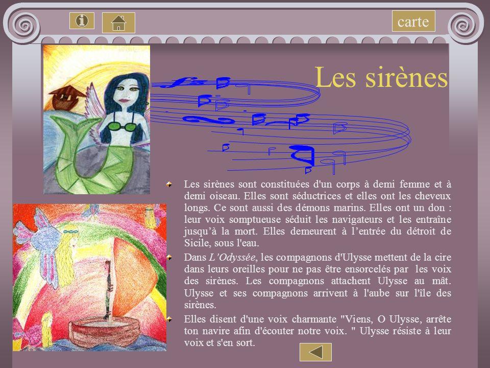 carte Les sirènes.