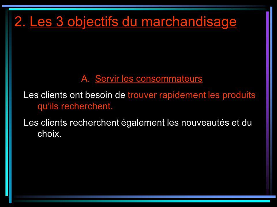 2. Les 3 objectifs du marchandisage