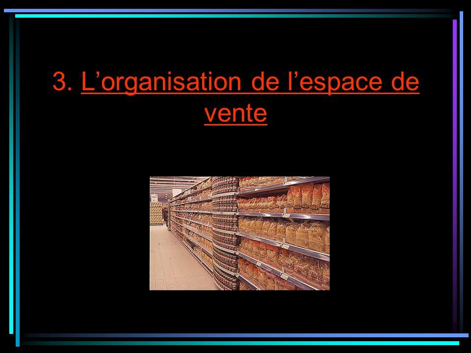 3. L'organisation de l'espace de vente