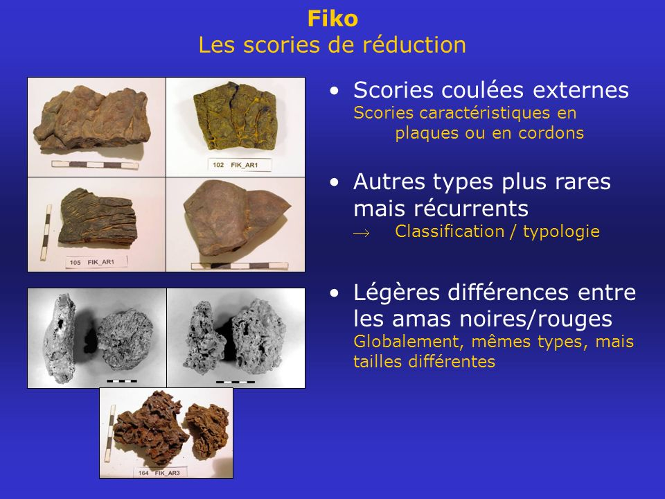 Fiko Les scories de réduction